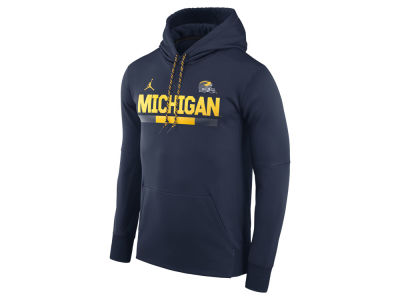 Michigan Wolverines Jordan NCAA Men's Therma-Fit Sideline Hoodie