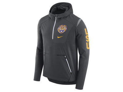 LSU Tigers Nike NCAA Men's Alpha Fly Rush Quarter Zip Pullover