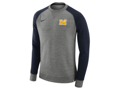 Michigan Wolverines Nike 2017 NCAA Men's Crew Sweatshirt