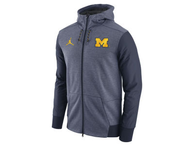 Michigan Wolverines Jordan NCAA Men's Travel Full-Zip Hoodie