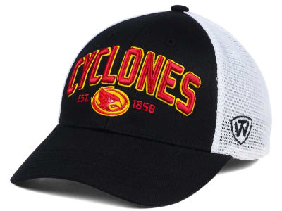 Iowa State Cyclones NCAA 2 for $25 Top of the World NCAA Black Mesh Teamwork Snapback Cap