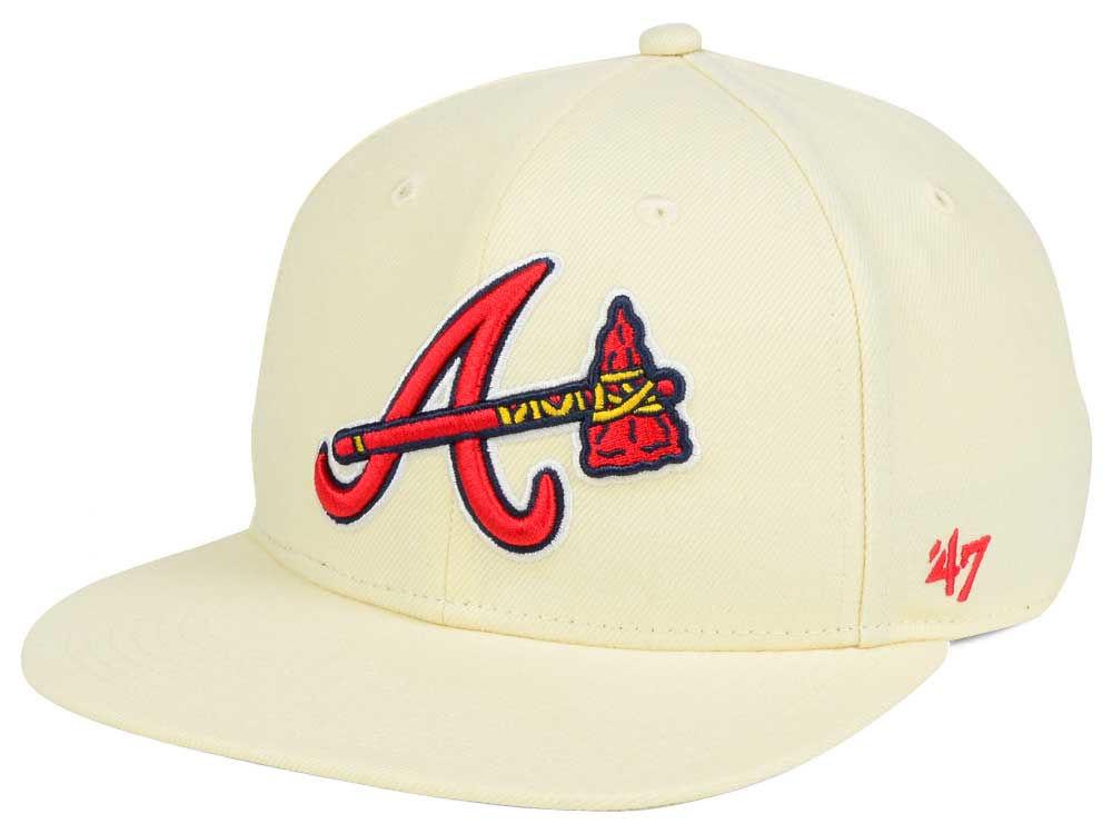 Atlanta Braves  47 MLB  47 Natural No Shot Snapback Cap  3b5072f17e55