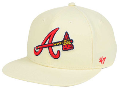 Atlanta Braves '47 MLB '47 Natural No Shot Snapback Cap