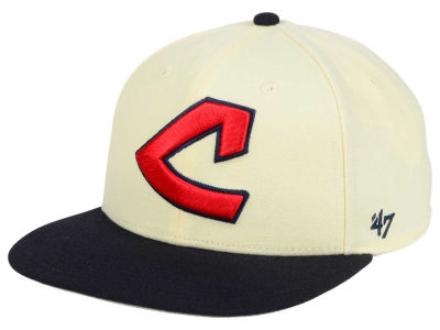 Cleveland Indians '47 MLB '47 Natural No Shot Snapback Cap