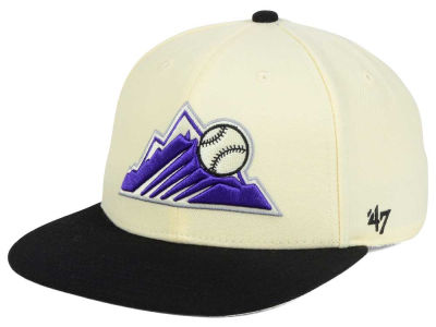 Colorado Rockies '47 MLB '47 Natural No Shot Snapback Cap