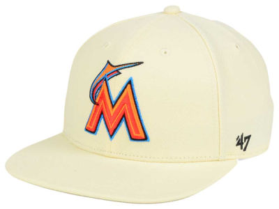Miami Marlins '47 MLB '47 Natural No Shot Snapback Cap