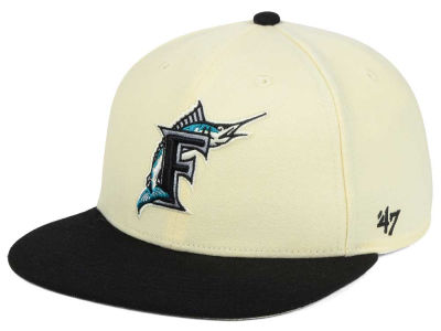 Florida Marlins '47 MLB '47 Natural No Shot Snapback Cap