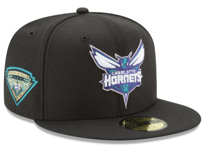 Charlotte Hornets New Era NBA Metallic Diamond Patch 59FIFTY Cap