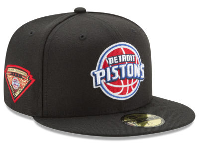 Detroit Pistons New Era NBA Metallic Diamond Patch 59FIFTY Cap