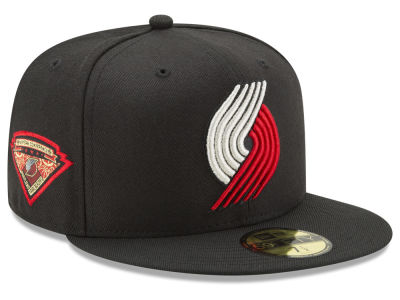 Portland Trail Blazers New Era NBA Metallic Diamond Patch 59FIFTY Cap
