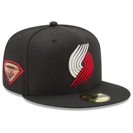 Portland Trail Blazers New Era NBA Metallic Diamond Patch 59FIFTY Cap