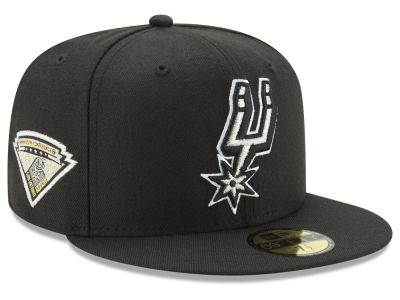 San Antonio Spurs New Era NBA Metallic Diamond Patch 59FIFTY Cap