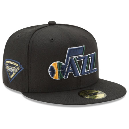 Utah Jazz New Era NBA Metallic Diamond Patch 59FIFTY Cap