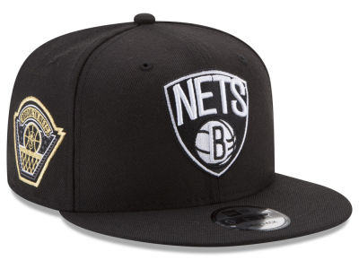 Brooklyn Nets New Era NBA All Metallic Hoops 9FIFTY Snapback Cap