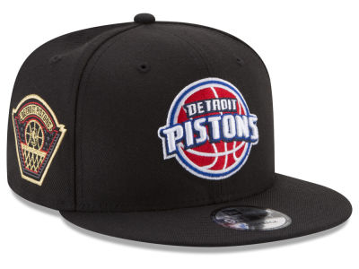 Detroit Pistons New Era NBA All Metallic Hoops 9FIFTY Snapback Cap