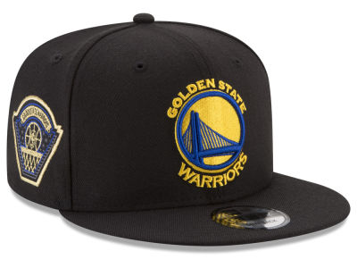 Golden State Warriors New Era NBA All Metallic Hoops 9FIFTY Snapback Cap