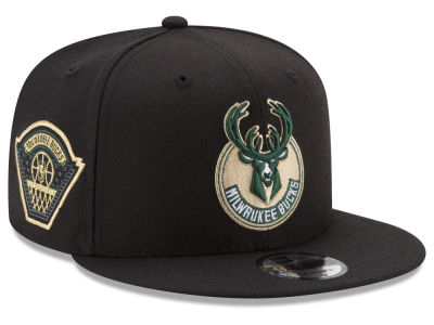 Milwaukee Bucks New Era NBA All Metallic Hoops 9FIFTY Snapback Cap
