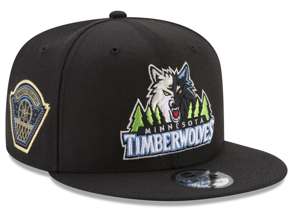 size 40 fe077 cf80a Minnesota Timberwolves New Era NBA All Metallic Hoops 9FIFTY Snapback Cap    lids.com