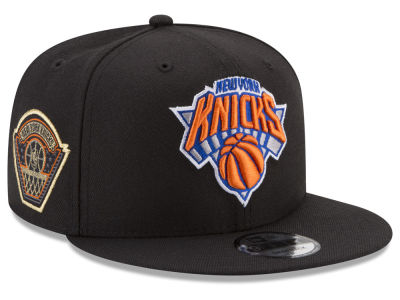 New York Knicks New Era NBA All Metallic Hoops 9FIFTY Snapback Cap