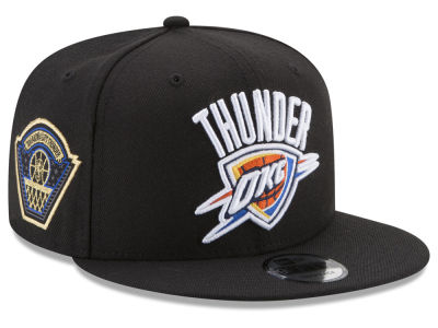 Oklahoma City Thunder New Era NBA All Metallic Hoops 9FIFTY Snapback Cap