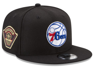 Philadelphia 76ers New Era NBA All Metallic Hoops 9FIFTY Snapback Cap