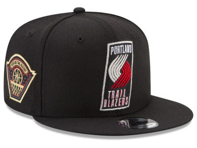 Portland Trail Blazers New Era NBA All Metallic Hoops 9FIFTY Snapback Cap