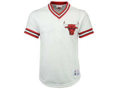 Chicago Bulls Mitchell & Ness NBA Men's V-Neck Mesh Jersey Top