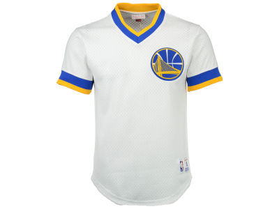 Golden State Warriors Mitchell & Ness NBA Men's V-Neck Mesh Jersey Top