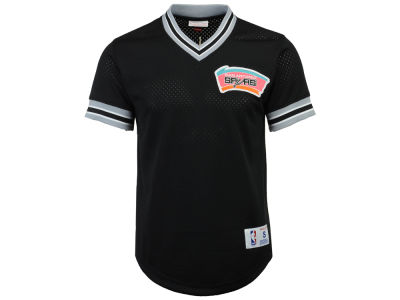 San Antonio Spurs Mitchell & Ness NBA Men's V-Neck Mesh Jersey Top