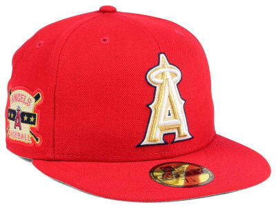 Los Angeles Angels New Era MLB Exclusive Gold Patch 59FIFTY Cap