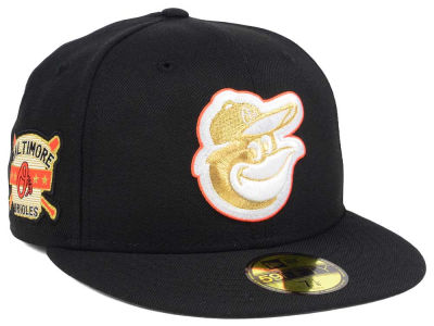 Baltimore Orioles New Era MLB Exclusive Gold Patch 59FIFTY Cap
