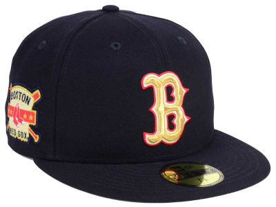 Boston Red Sox New Era MLB Exclusive Gold Patch 59FIFTY Cap