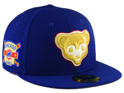 Chicago Cubs New Era MLB Exclusive Gold Patch 59FIFTY Cap