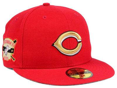 Cincinnati Reds New Era MLB Exclusive Gold Patch 59FIFTY Cap