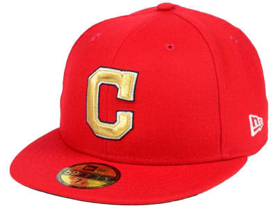 Cleveland Indians New Era MLB Exclusive Gold Patch 59FIFTY Cap