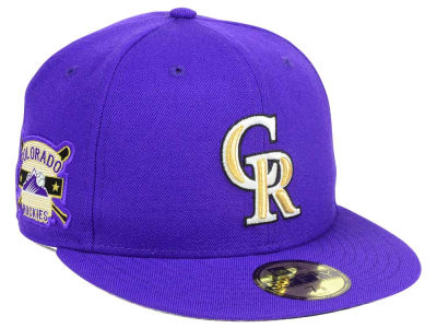 Colorado Rockies New Era MLB Exclusive Gold Patch 59FIFTY Cap