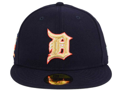 Detroit Tigers New Era MLB Exclusive Gold Patch 59FIFTY Cap