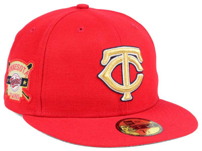 Minnesota Twins New Era MLB Exclusive Gold Patch 59FIFTY Cap