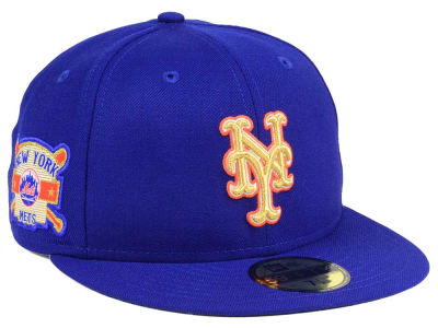 New York Mets New Era MLB Exclusive Gold Patch 59FIFTY Cap