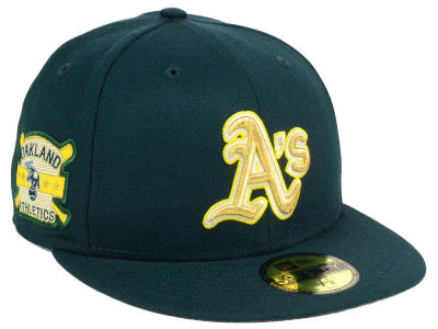 Oakland Athletics New Era MLB Exclusive Gold Patch 59FIFTY Cap