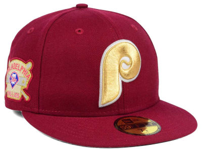 Philadelphia Phillies New Era MLB Exclusive Gold Patch 59FIFTY Cap