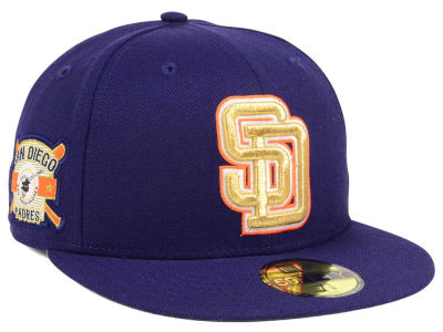 San Diego Padres New Era MLB Exclusive Gold Patch 59FIFTY Cap