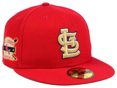 St. Louis Cardinals New Era MLB Exclusive Gold Patch 59FIFTY Cap