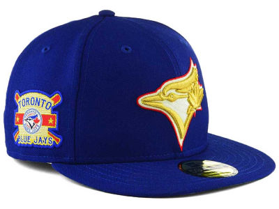 Toronto Blue Jays New Era MLB Exclusive Gold Patch 59FIFTY Cap