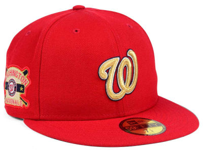 Washington Nationals New Era MLB Exclusive Gold Patch 59FIFTY Cap