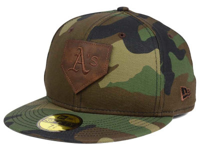 Oakland Athletics New Era MLB The Logo of Leather 59FIFTY Cap