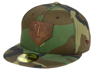 Texas Rangers New Era MLB The Logo of Leather 59FIFTY Cap