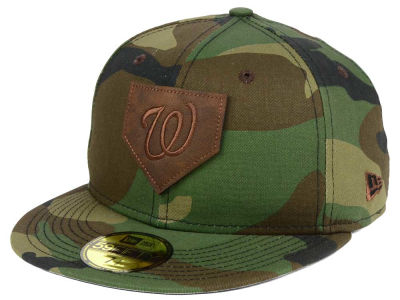 Washington Nationals New Era MLB The Logo of Leather 59FIFTY Cap