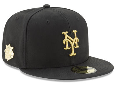 New York Mets New Era MLB The League Metallic Patch 59FIFTY Cap