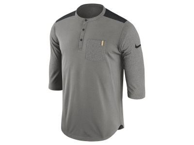 Purdue Boilermakers Nike NCAA Dri-Fit Henley T-shirt